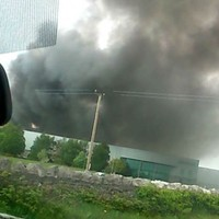 Explosions heard as fire engulfs Mayo factory