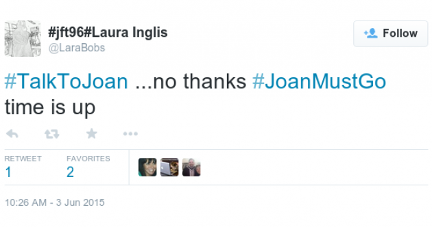#talktojoan is trending in Ireland... but not in a good way