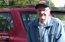 This 91-year-old man checked off the only thing on his bucket list in the most badass way