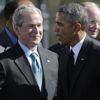 Sorry, Obama - George W Bush is more popular than you