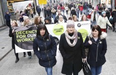 Dunnes Stores workers call on people to join them for today's march