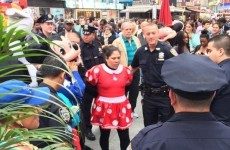 Minnie Mouse and Hello Kitty were just arrested for getting into a scrap