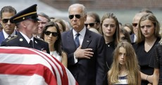 Emotional scenes as Joe Biden's son Beau is laid to rest