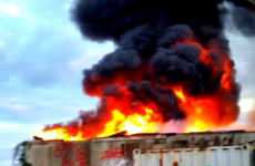 Gas cylinder worry as fire engulfs Dublin warehouse