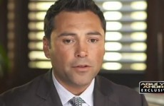 Boxer Oscar de la Hoya was suicidal during his two-year cocaine and alcohol binge