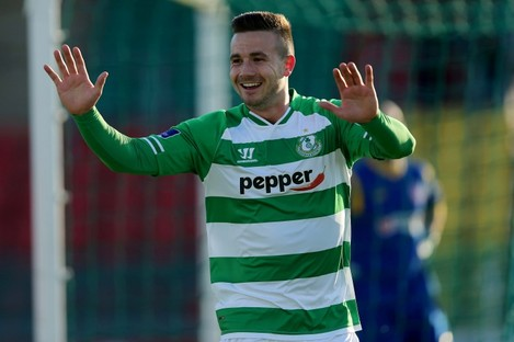 Mikey Drennan continued his fine form in front of goal but later got sent off.