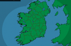 There's not a drop of rain across the country right now...it might even touch 20°C