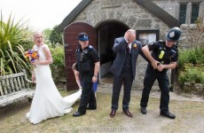 This groom was arrested for 'wasting police time' -- but it was just an elaborate stunt