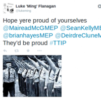Fine Gael MEPs have been compared to fascists