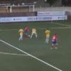 Still got it! Henrik Larsson, 43, brings himself off the bench for Helsingborg - and scores