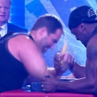Rugby player tears his bicep on TV after arm-wrestling challenge goes horribly wrong
