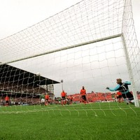 Action Replay: when McAteer pulled the trigger against the Dutch