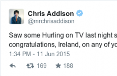 An English comedian watched hurling and had this to say to us...