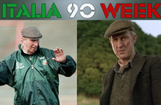 Who would play Dunphy, Charlton and Maradona in an Italia 90 movie?