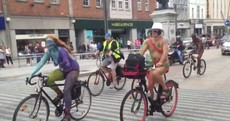 Pictures: Naked bike riders take to the streets of Cork to call for action on climate change