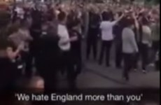 These Irish and Scottish fans couldn't agree on who disliked England more