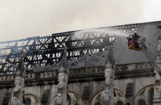 Blaze ravages 19th century French cathedral