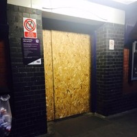 Gang of thieves board up train station in an attempt to rob the ATM