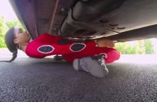 A woman managed to limbo under a car and the video will break your brain