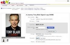 Signed Blair books going for over €263 on eBay