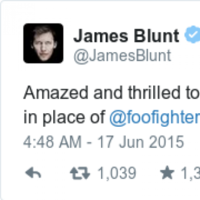 James Blunt excellently trolled disappointed Foo Fighters fans this morning