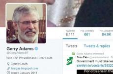 Gerry Adams is winning at Twitter