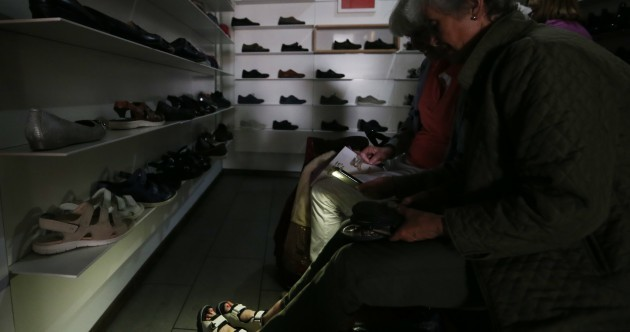 Pics: Power outage in Dublin city leaves shoppers (and politicians) in the dark