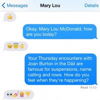 Here's what happened when we interviewed Mary Lou entirely in emoji