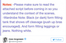 This actress got sent a sexist note with a script and people are not happy