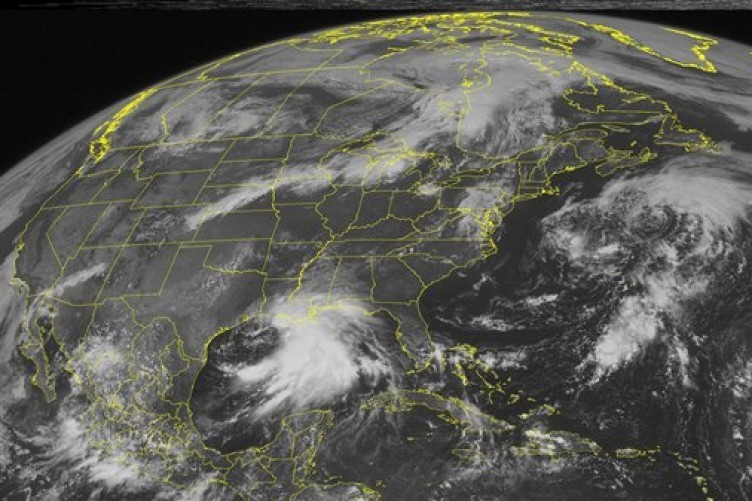 Satellite image of Hurricane Lee taken earlier today.