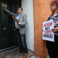 Pictures: Clerys workers protesting outside the HQ of the company that closed their store