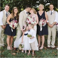 The wedding photographer said 'kiss'... and the flower girl did just that