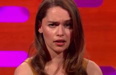 Cara Delevingne and Emilia Clarke had an intense 'eyebrow-off' on Graham Norton