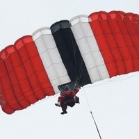 Red Devil catches team-mate after parachute fails to open
