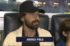 Pirlo and his family show up at Yankees game ahead of proposed move to MLS