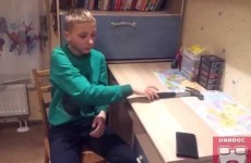 This kid attempted to prove how tough his new case is, but failed miserably