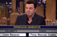 Seth MacFarlane did an impression of Liam Neeson and it was flawless