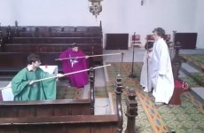 These Irish lads went into their school chapel, put on priest robes and reenacted Star Wars