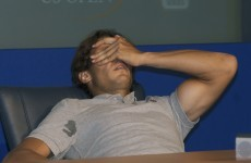 Rafael Nadal collapsed in his chair at a press conference last night