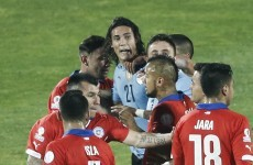 Edinson Cavani got his arse tickled and was sent off for retaliating as Uruguay go out to hosts