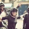 Courtney Love got 'taken hostage' during a protest in Paris