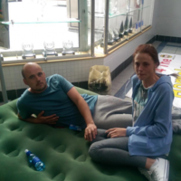 Homeless couple sleeping at council had an injunction taken out against them