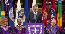 WATCH: Obama sings 'Amazing Grace' at funeral for Charleston church leader