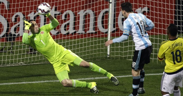 Rejoice... even the world's best player can miss from four yards out
