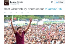 This 'amazing photo from Glastonbury' isn't from Glastonbury at all