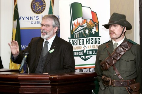 Gerry Adams launching Sinn Féin's national programme of events to commemorate the centenary of the 1916 Rising.