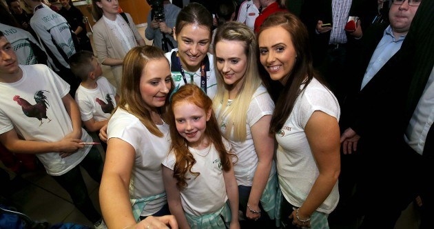 Ireland's triumphant boxers given a hero's welcome home