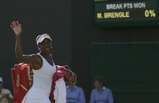 Venus romps to 42-minute 'double bagel' demolition