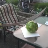 This is why you probably shouldn't cut a watermelon with a sword