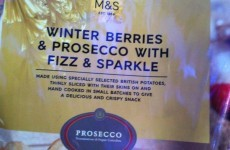 Prosecco-flavoured crisps are a thing and they'll be in an M&S near you this Christmas